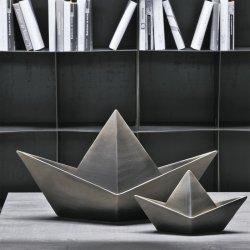Barcă Ceramică Decorativă Negru - Auriu