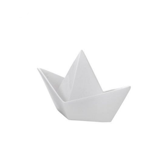 Barcă Ceramică Decorativă Alb