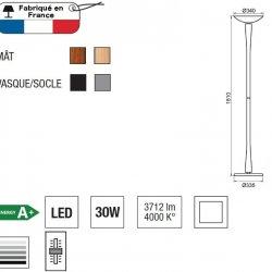 Lumină Podea EDEN LED Gri - Lemn De Cireș