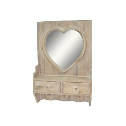 Oglindă HEART 2 Sertare