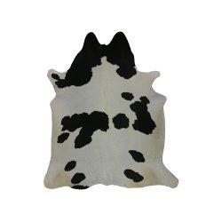 Covor Piele de Vacă Negru - Alb Mare
