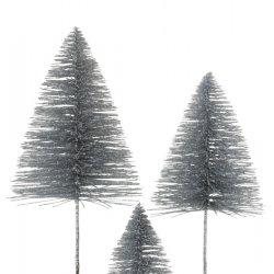 Brad Crăciun Sclipici Argintiu L