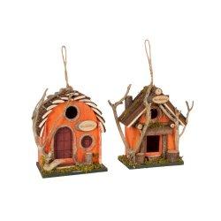 Căsuțe Decorative Pentru Păsări 2 Lemn Oranj