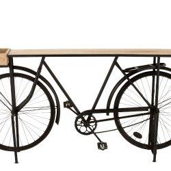 Consolă Bicicletă Metal + Lemn Mango Negru - Natural