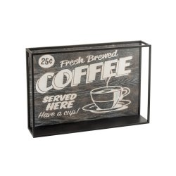 Decorațiune COFFEE Lemn + Metal Negru - Maro