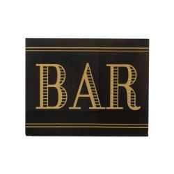 Pancartă BAR Sticlă Negru