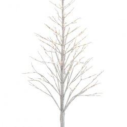 Pom Decorativ Led + Sclipici Argintiu L