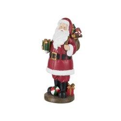 Figurină Moș Crăciun Poliresin Roșu
