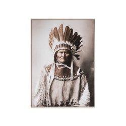 Fotografie Înrămată Nativ American Maro - Bej