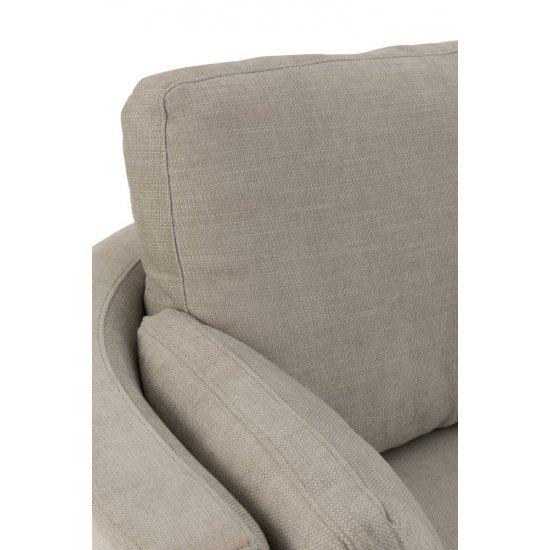 Fotoliu Mâner Lemn Pivotant + Textil Gri