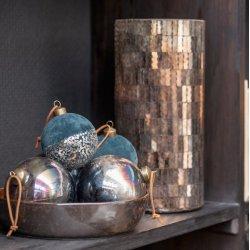 Globuri Crăciun Sticlă 4 Piese Albastru Antic - Maro M