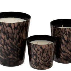Lumânare parfumată Lemn de santal Negru/Auriu Mare