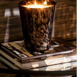 Lumânare Parfumată Lemn Santal Negru - Auriu L