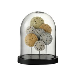 Vas Decorativ Ceasuri Sticlă Maro Deschis S