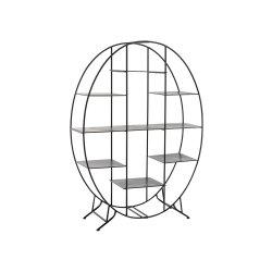 Raft Oval Stativ Metal Negru