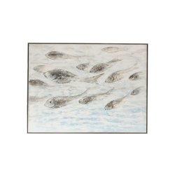 Tablou Pești Albastru - Gri