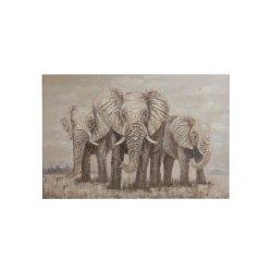Tablou 3 Elefanți Maro - Gri