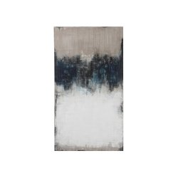 Tablou Abstract Alb - Albastru - Gri