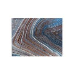 Tablou Valuri Albastru - Maro - Gri