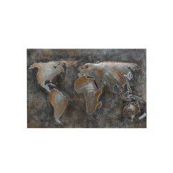 Tablou Lume Abstractă Metal Gri - Maro