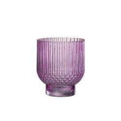 Vaza  rotunda sticla roz mare