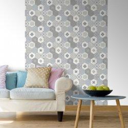 Tapet Ceramică Hexagonală Gri