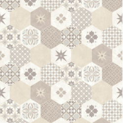 Tapet Ceramică Hexagonală Bej