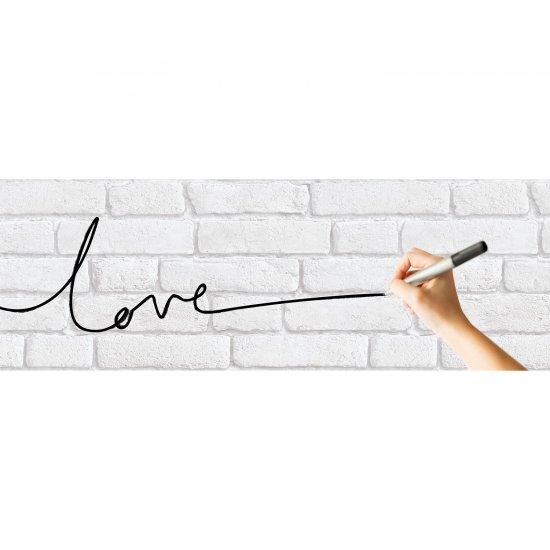 Tapet Cărămizi Albe, Tip White Board, Pe Care Se Poate Scrie Cu Markerul
