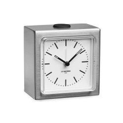 Ceas Alarmă BLOCK Oțel - Alb
