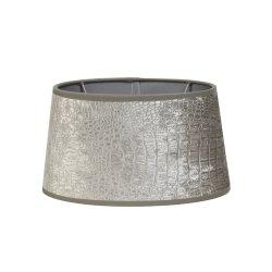 Abajur elipsa CHELSEA argintiu 30-25-16 cm