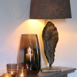 Abajur elipsa LIVIGNO gri inchis 40-35-20 cm