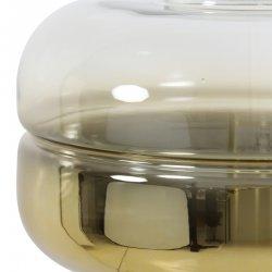 Lumină Podea CHERLE Sticlă Aurie + Auriu Mat