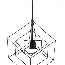 Lampă Suspendată KUBINKA negru mat