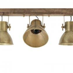Lampă Suspendată - Perete ELAY Lemn Erodat - Bronz