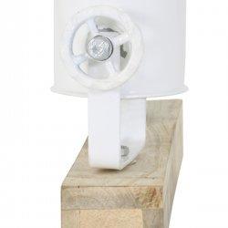 Lampă Suspendată - Perete ELAY Lemn Natural - Alb