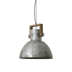 Lampă Suspendată SHELLY Lemn Erodat - Argintiu