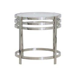 Măsuță Laterală ANGOL Sticlă + Nichel Argintiu
