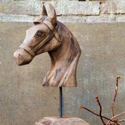 Ornament HORSE Lemn Maro Învechit