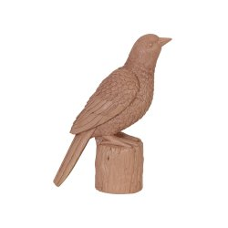 Ornament BIRD Roz Antichizat