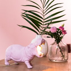 Veioză HIPPO roz mat