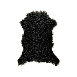Covor Piele Miel SPANISH Creț Negru