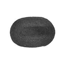Napron Oval Iută Negru