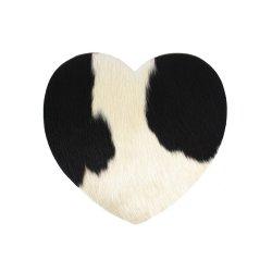 Napron COW HEART Negru - Alb