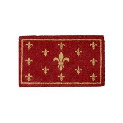 Preș Ușă Coir FLEUR DE LIS Roșu