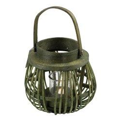 Lampion Glob cu Mâner Verde
