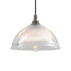 Lampă Suspendată MARIS Sticlă Prismatică Argintiu Antichizat IP65