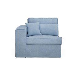 Modul Colț Canapea + Mâner Stânga METROPOLIS Bumbac Albastru Rece
