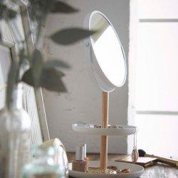 Oglindă Cosmetică + Tavă Accesorii TOSCA