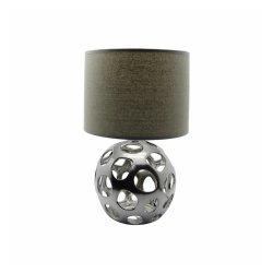 ZIVA silver Ceramic lamp