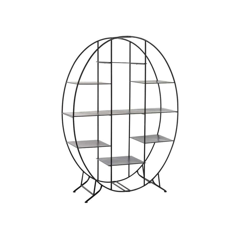 Raft Oval Stativ Metal Negru koomood 2021